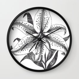 Vintage Lilly Wall Clock