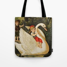 Hansel & Gretel With Swan Tote Bag