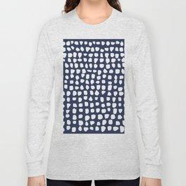 Dots / Navy Long Sleeve T-shirt