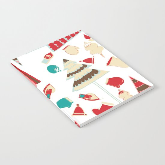 Vintage Christmas white Notebook