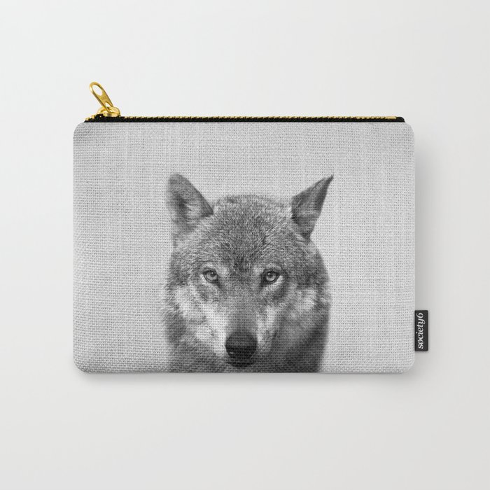 Wolf - Black & White Carry-All Pouch