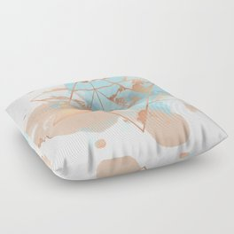 Transforming Within - Copper Rose Gold Floor Pillow