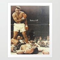 ali Art Prints featuring Ali by Alex