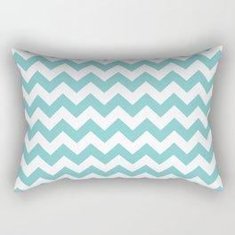Aqua Chevron Rectangular Pillow