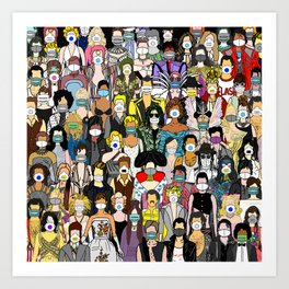 Face Mask Party Art Print