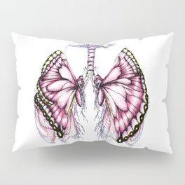 Pink Butterfly Lungs Pillow Sham