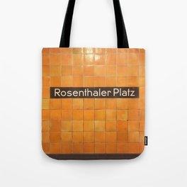 Berlin U-Bahn Memories - Rosenthaler Platz Tote Bag