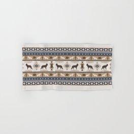 Boho dogs | German shepherd pattern tan Hand & Bath Towel