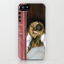 praying chinese monk iPhone Case