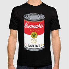 Campbell's Soup (Cannabis Sativa) - That 70's Show Black Mens Fitted Tee MEDIUM