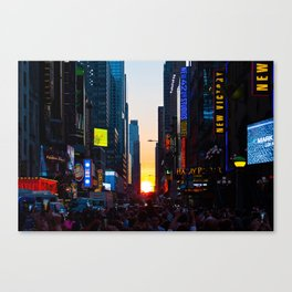 Manhattanhenge - New York Canvas Print