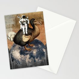 Dodo on The Moon Stationery Cards