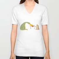 friendship V-neck T-shirts featuring Friendship by Chiara Sgatti