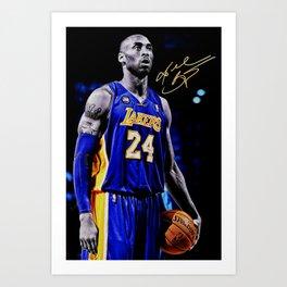 K.B King of  Basketball Art Print03 Art Print