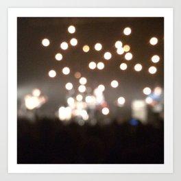 Concert Lights 2 Art Print
