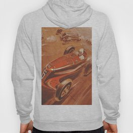 1937 French Course à Montlhéry Auto Racing Vintage Poster by Georges Hamel Hoody