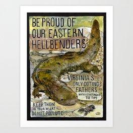 Eastern Hellbenders Art Print
