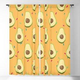 Avocado with sprinkles Blackout Curtain