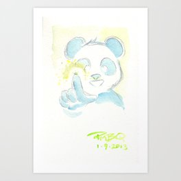 Booger Panda Art Print
