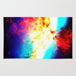 Bright & Colorful Galaxy Messier 82 Rug