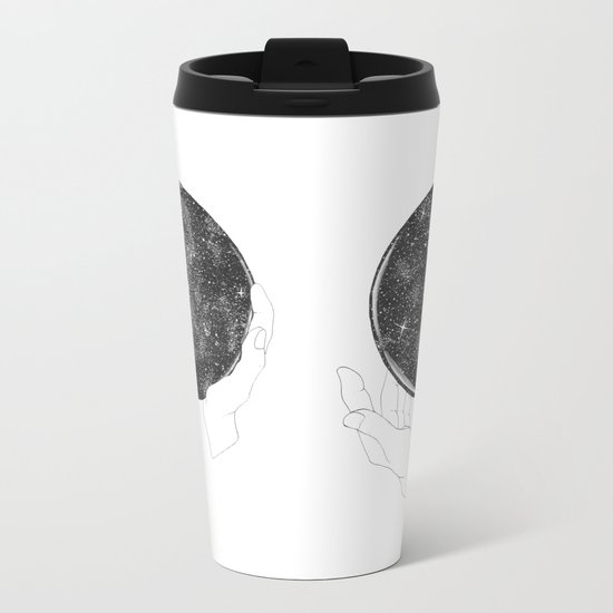 The Stargazer's Future is the Past Metal Travel Mug