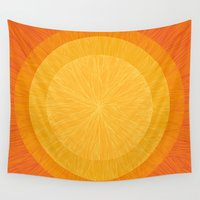 pulp Wall Tapestries featuring Pulp Saffron by Anchobee
