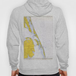 Vintage Map of The Outer Banks NC (1972) Hoody