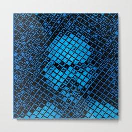 Tile Face Metal Print