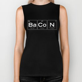 The Chemistry of Bacon, Funny Nerdy Periodic Table Biker Tank