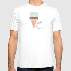 Ice Cream MEDIUM White Mens Fitted Tee