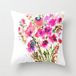 Bouquet Pink Throw Pillow
