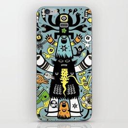 Guru Cat (blue time) iPhone Skin