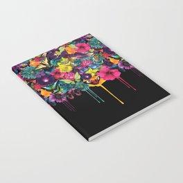 Flowers Melting Notebook
