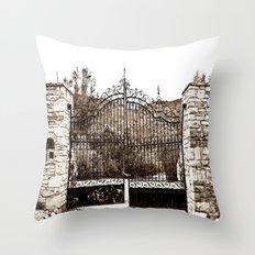 Old Gates Throw Pillow