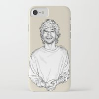 louis tomlinson iPhone & iPod Cases featuring Louis Tomlinson  by Cécile Pellerin