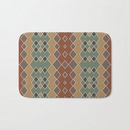 Argyle Pattern Bath Mat