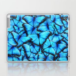 Peace of the Blue Butterfly Laptop & iPad Skin