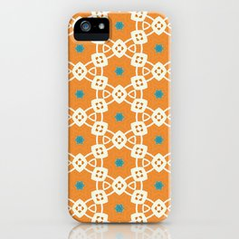 Juliette muted orange and ivory trinkets pattern iPhone Case
