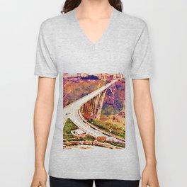 Catanzaro: Morandi bridge Unisex V-Neck