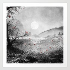 The red sounds and poems, Chapter II Art Print