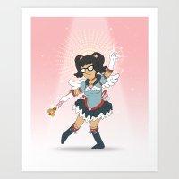 tina belcher Art Prints featuring Magical Tina Chan by Fatal Fruit