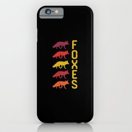 Foxes Vintage iPhone Case