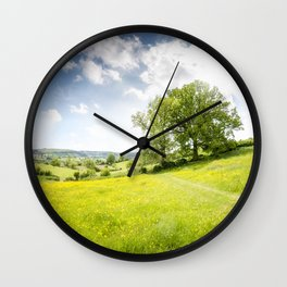 Idyllic Cotswold Summer Landscape Wall Clock