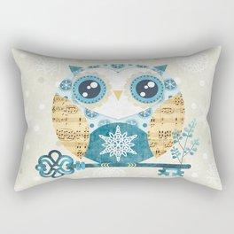 Winter Wonderland Owl Rectangular Pillow