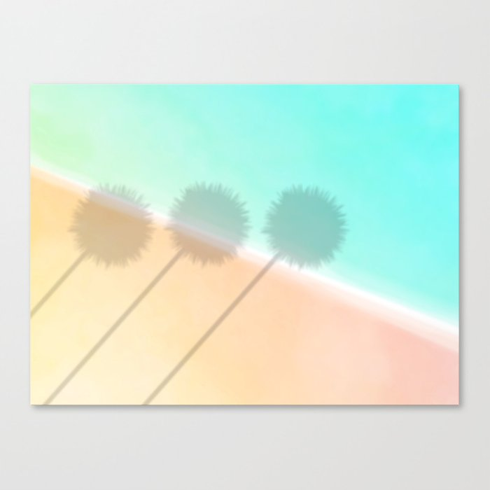Palm Shadow ~ tropical beach scene Canvas Print