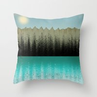cabin Throw Pillows featuring Cabin View by Tammy Kushnir