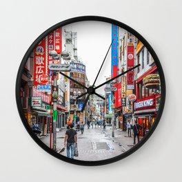 Tokyo street scene Wall Clock
