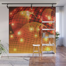 Abstract Disco Orange Wall Mural