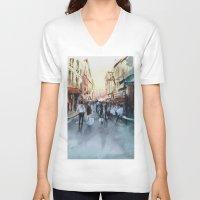 paris V-neck T-shirts featuring PARIS by Nicolas Jolly