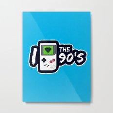 I Heart the 90's Metal Print
